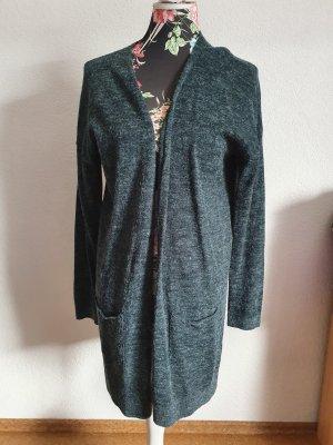 H&M Gilet long tricoté vert forêt