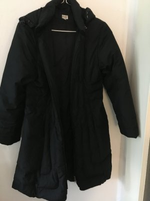 Lange Daunen-Jacke mit Kapuze