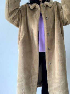 H&M Manteau en fausse fourrure multicolore