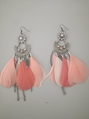 Statement Earrings silver-colored-pink