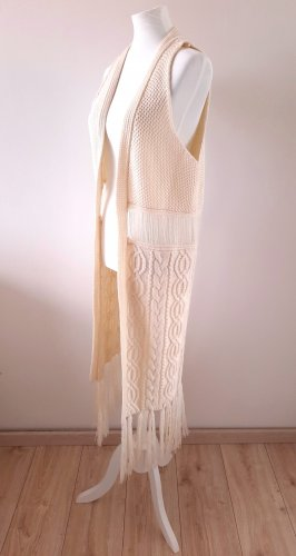 All about Eve Fringed Vest natural white
