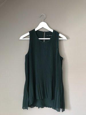 Lange gerippte Bluse in dunkelgrün