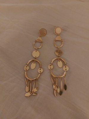 Lange goldene Ohrringe