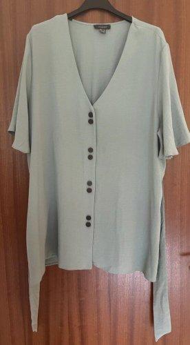 Lange graublaue Bluse