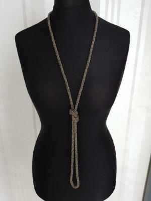 Pearl Necklace grey brown