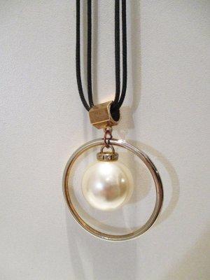 lange Halskette gold große Kugel
