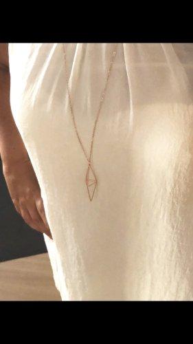 Lange Halskette in rosegold Schmuck Kette