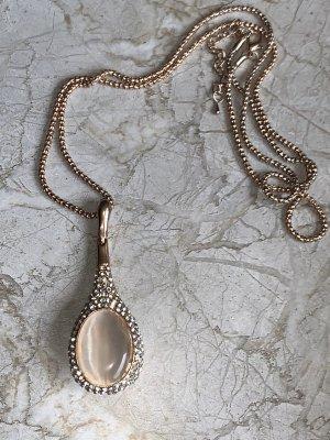 Lange Halskette mit Strass und Stein