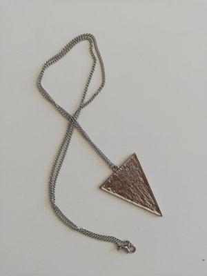 lange Halskette Motiv Silber