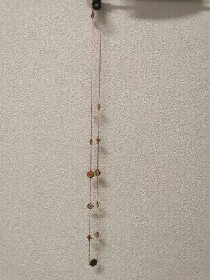 Lange Halskette Rosegold Neu