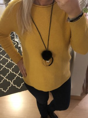 Lange Halskette schwarz gold Kette