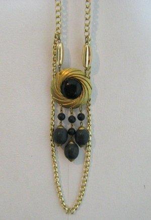 Lange Halskette Statement Lagenlook Goldfarben Modeschmuck