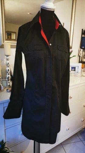Lange Hemdbluse, Blusen-Kleid, schwarz, von Milano, 36