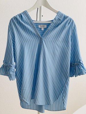 Lange Hemdbluse mit Volants