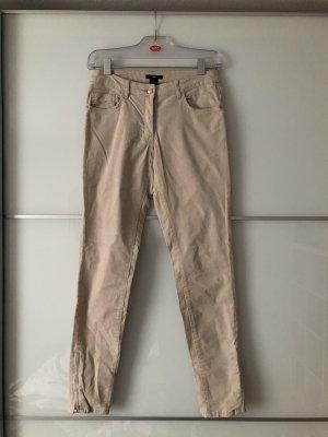H&M Pantalone di velluto a coste bianco sporco