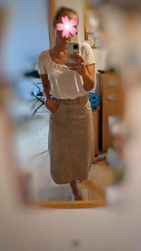 Zara Jeansowa spódnica camel