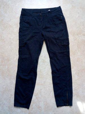 C&A Yessica Spodnie biodrówki ciemnoniebieski Bawełna