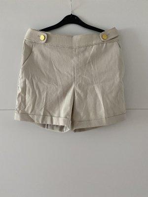 H&M Krótkie szorty beżowy-złoto