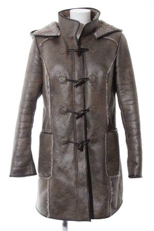 Best Connections Lange Jacke bronzefarben Business-Look