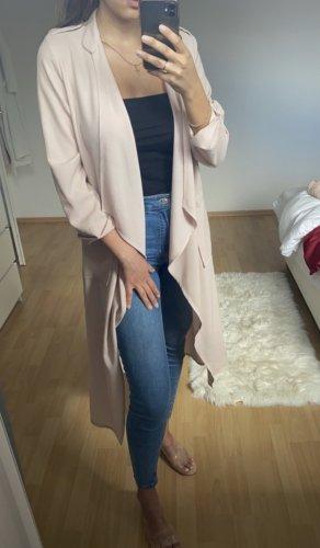 Lange Jacke/Mantel hellrosa