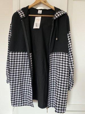 Tofisa Veste à capuche noir-blanc