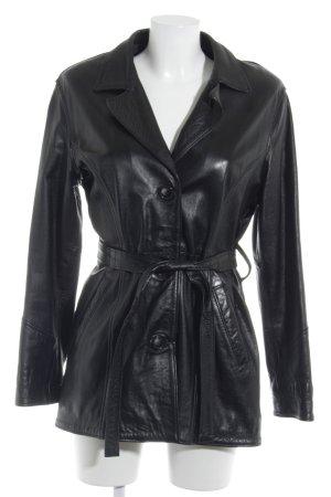Lange Jacke schwarz 90ies-Stil