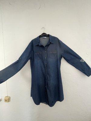 Lange jeans bluse