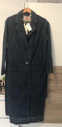 Lange Jeans-Mantel