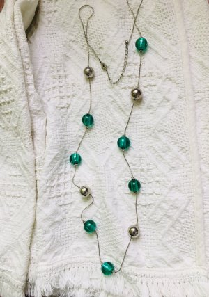 Lange Keine grüne Silbere Smaragdgrün Perlen Kugel