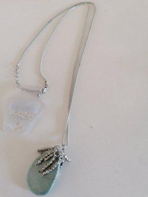 Cadena de plata color plata-azul pálido
