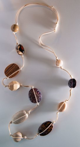 Bijou Brigitte Collier incrusté de pierres multicolore tissu mixte