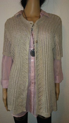 Bexleys Short Sleeve Knitted Jacket oatmeal-beige