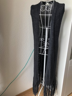 Lange kurzärmlige Strickjacke