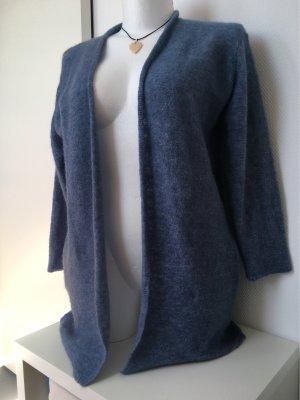 Lange kuschelwarme Strickjacke mit Wolle Gr. M/L