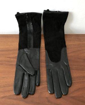 H&M Leren handschoenen zwart Leer