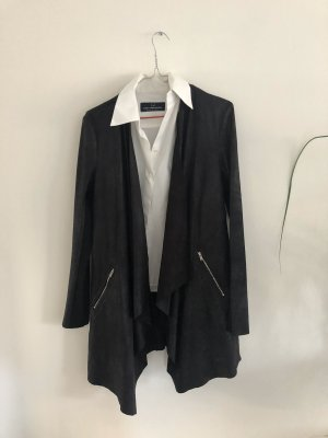 lange Leder Optik Jacke Größe M von Zara