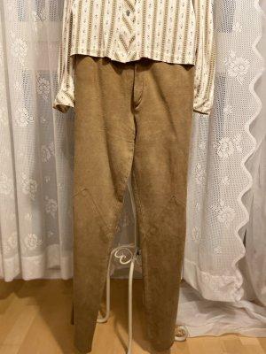 Pantalone in pelle marrone chiaro