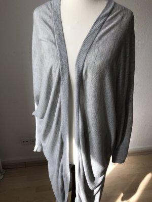 H&M Abrigo de punto gris claro