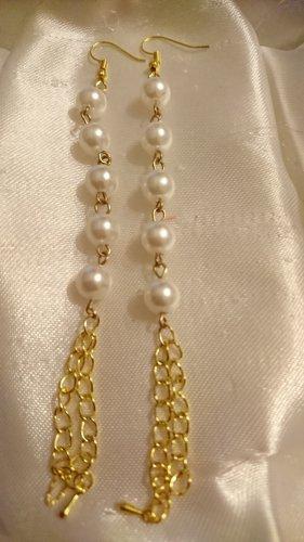 Lange Perlen Ohrringe 12,5 cm Ohrhänger