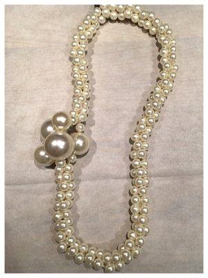 Lange Perlenkette, französischer Charme, Kunstperlen