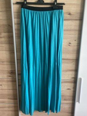 Jupe plissée noir-turquoise