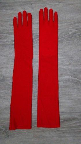 Lange Satin Handschuhe (B157) in rot