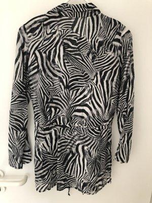 Lange Seidenbluse Zebra
