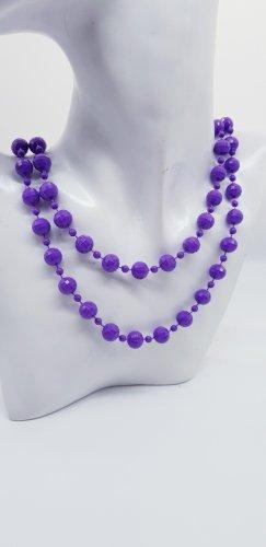Collana di perle lilla