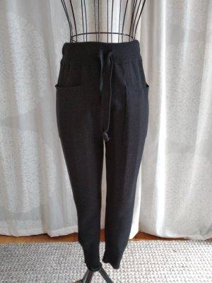 Zara Knit Pantalon en laine noir
