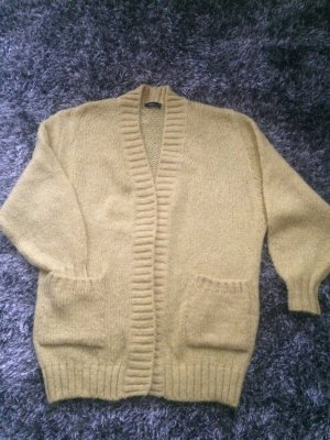 Zara Knit Grof gebreid vest donkergeel Acryl