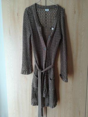 Primark Giacca in maglia marrone-grigio
