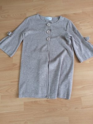 Cardigan in maglia beige chiaro Cotone