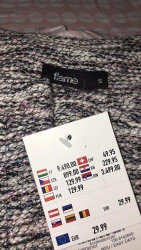 Flame Cappotto a maglia multicolore