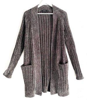 Zara Knit Giacca lunga grigio scuro
